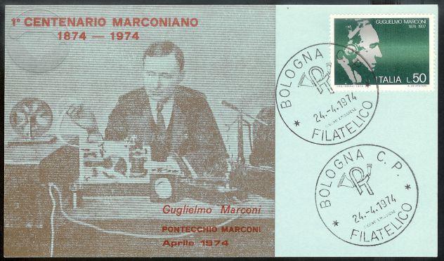 1974 Cartoline 100° nascita GUGLIEMO MARCONI