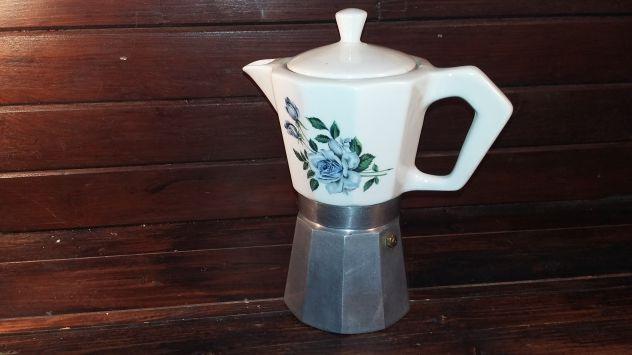 V491 riuso caffettiera porcellana fiori 6tz