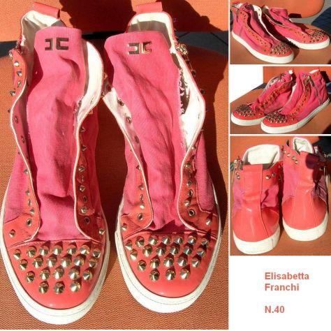 Scarpe donna Elisabetta Franchi Sneakers nr. 40 rosa  Composizione: Pe