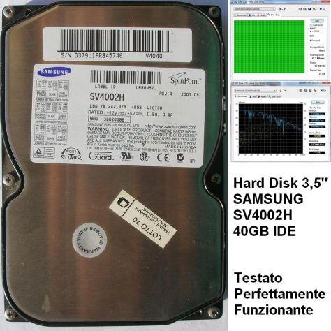 Hard Disk SAMSUNG SV4002H 40GB IDE 3,5''  TESTATO Funzionante