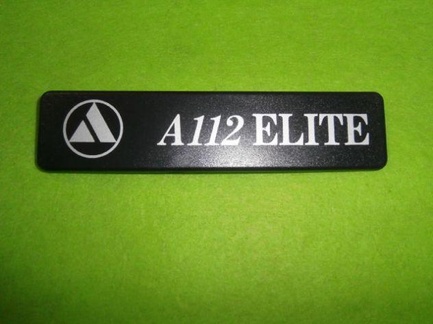 Logo scritta targhetta posteriore Autobianchi a112 Elite 6a serie ( 1983>) NUOVA