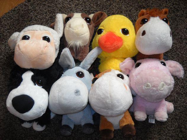 Amici della fattoria peluche Big Headz serie Coop