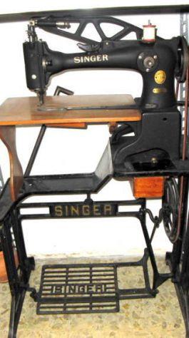 Macchina da cucire Singer anni '50 per calzolaio