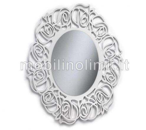 Specchiera ovale bianca - Nuovo