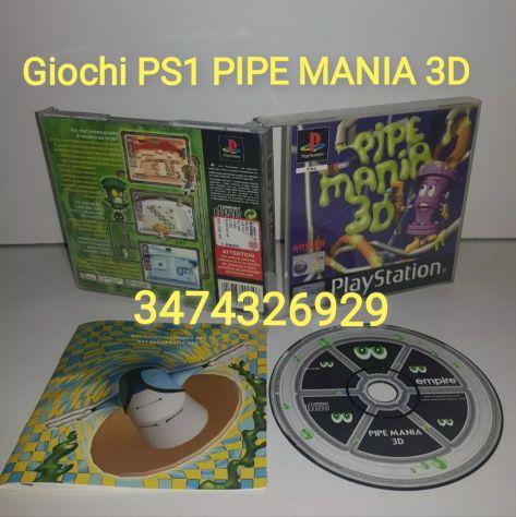 PS1 PIPE MANIA 3D COMPLETO ITA