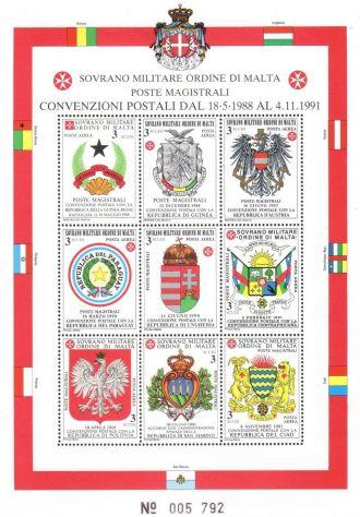 Francobolli nuovi annata 1992 S.M.O.M.
