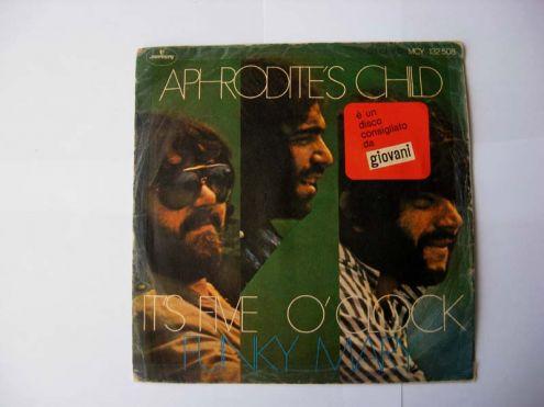 45 giri del 1970-Aphrodite 's Child-It 's five o 'clock