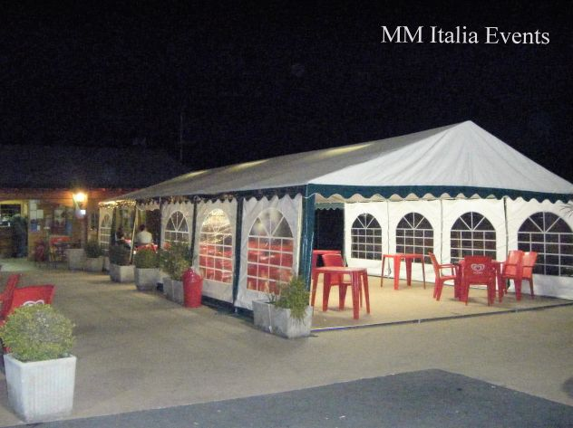 MM Italia Linea Mara Tendoni,Gazebo 6 x 10  Pvc Ignifugo uso Pubblico - Foto 6
