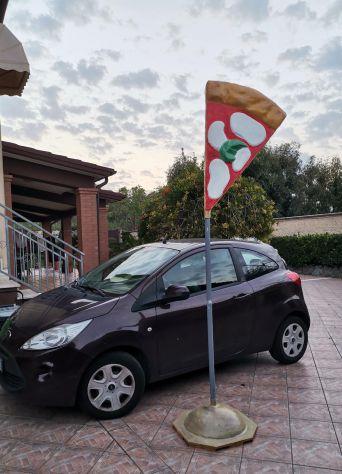 Insegna per pizzeria in vetroresina (fiberglass pizza), tridimensionale, a vela. - Foto 3