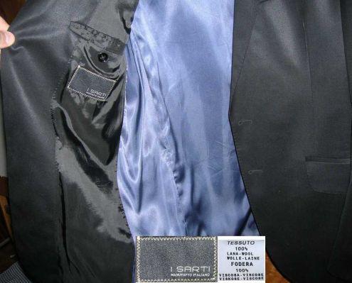 Giacca uomo nero lucido lana 48 I Sarti spacco retro moda fashion moderna   … - Foto 3