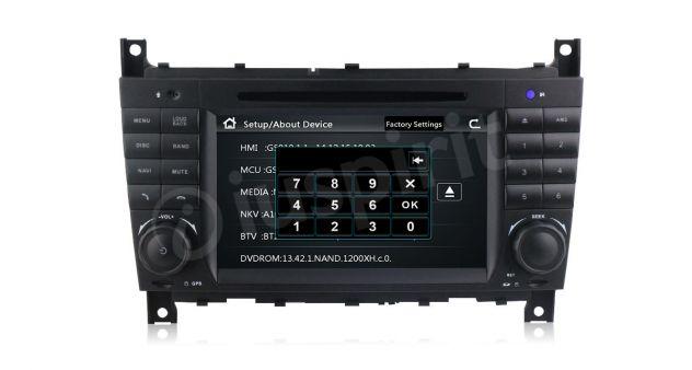 Autoradio 2DIN navigatore Mercedes W203 W209 W203 W407 W467 C200 C220 - Foto 3