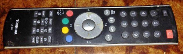 Autentico Originale Toshiba CT-865 CT865 televisore TV led DVD VCR telecomando