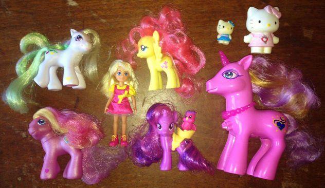 Lotto bambole my little pony G3 G4 hasbro bambolina giochi preziosi hello kitty