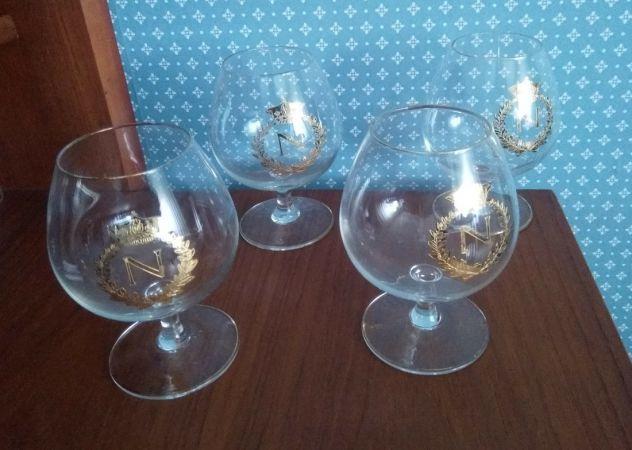 Bicchieri Napoleon anni '60 set 4 pezzi (LEGGERE TESTO)