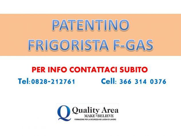 Patentino Frigoristi FGAS (IN TUTTA ITALIA)