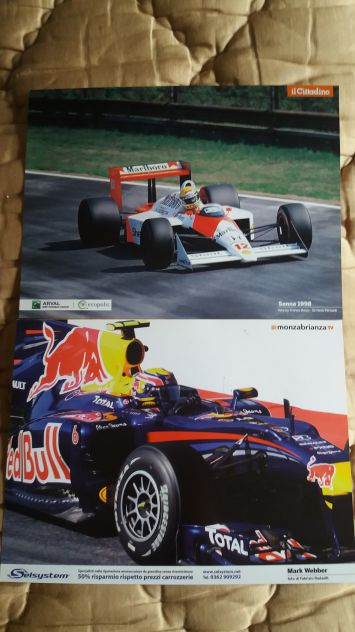 Cartoline Ayrton Senna 1998 Mark Webber