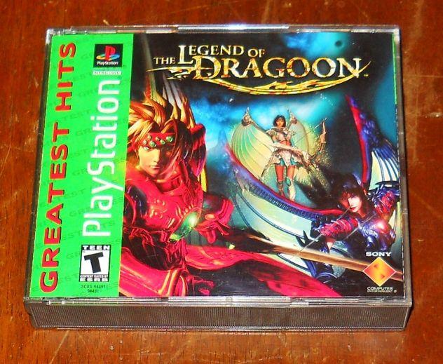 Custodia manuale gioco legend of dragoon USA ps1 psx sony playstation GDR RPG