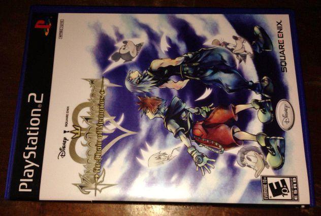 kingdom hearts re: chain of memories ps2 playstation 2 custodia e cover art USA - Foto 2