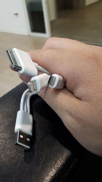 Cavetto smartphone 4 in 1 (usb,Micro usb,Apple,connettore 30 pin) - Foto 5