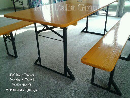 50 set panche e tavoli pieghevoli professionali per sagre noleggio - Foto 4