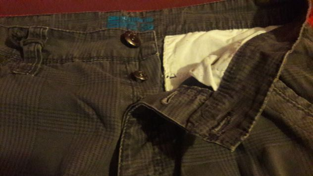Pantaloni stoffa Owk grigi a quadri tasconi Tg 46 - NUOVI - Foto 3