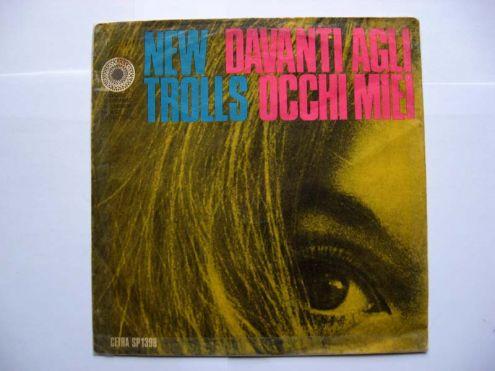 Vinile 45 giri del 1969-New Trolls-davanti agli occhi miei