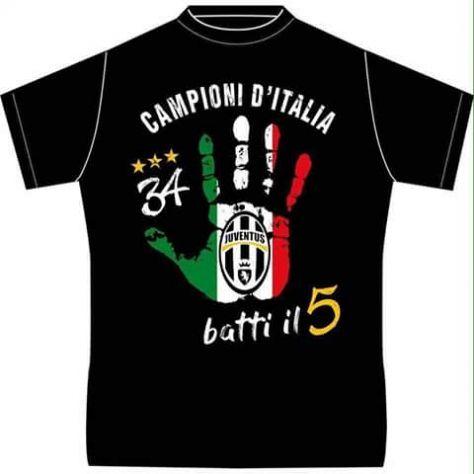 T Shirt Juventus Campioni Ditalia 34 Scudetto Juve Annunci Catania