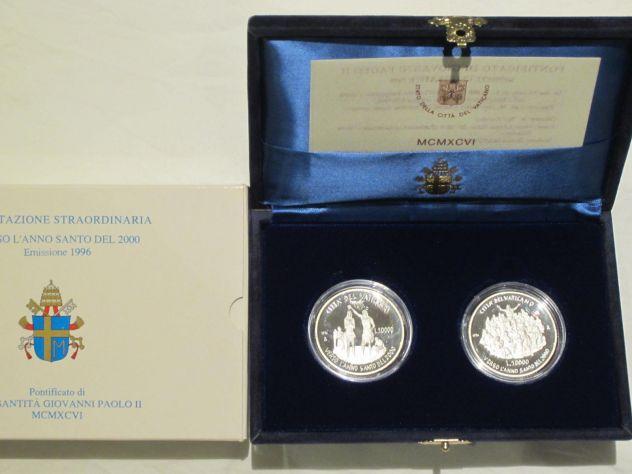 Monete Vaticano commemorative argento 1993-1998