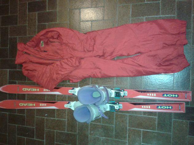 attrezzatura da sci per bimbo/a 10-14 anni