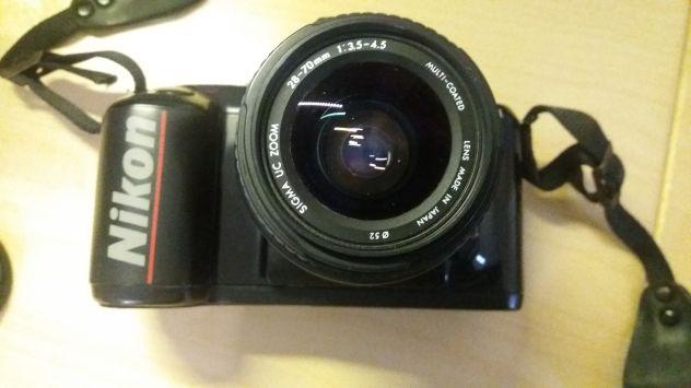 Macchina fotografica Nikon F401x con borsa