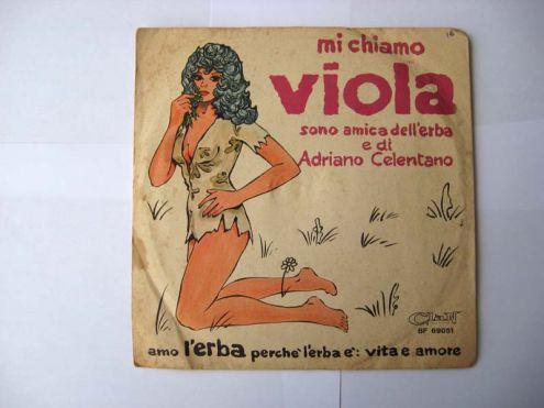 45 giri del 1970-Adriano Celentano-Viola