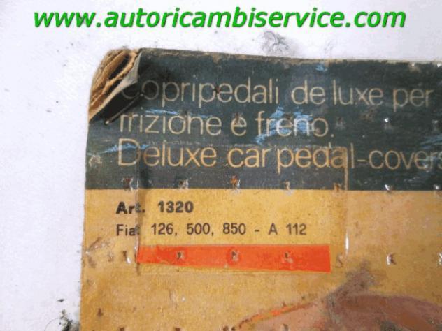 1320 GOMMINI RIVESTIMENTO COPRI PEDALI FRENO E FRIZIONE FIAT 500 RICAMBIO NUOVO - Foto 2