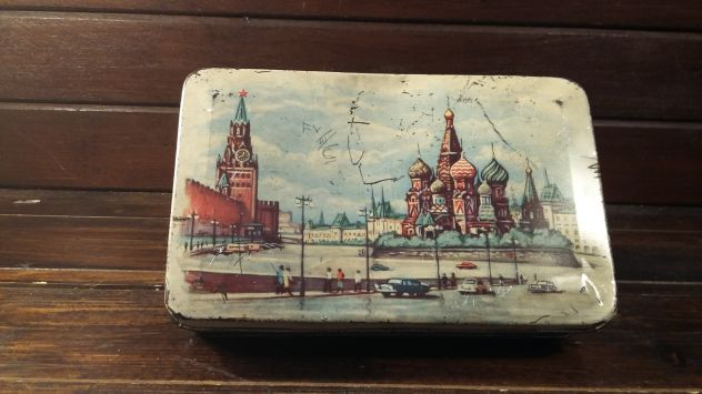 V397  riuso scatola latta URSS Unione Sovietica