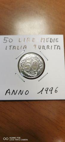 50 LIRE MEDIE ANNO 1996