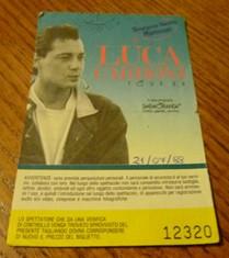 Biglietto concerto LUCA CARBONI Tour 1988