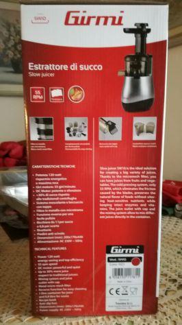 Estrattore di succo Girmi SW10 nuovo con garanzia italiana. - Foto 3