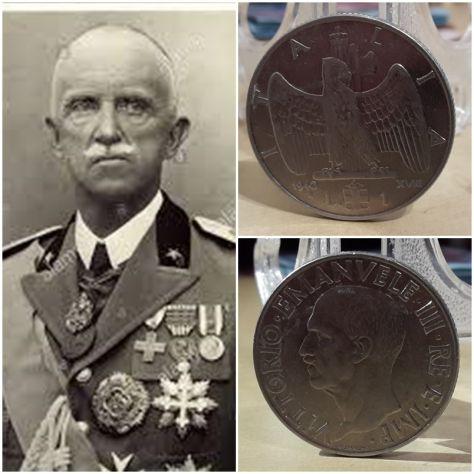 Italia, 1 lira 1940, XVIII.
