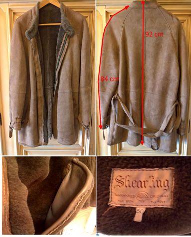 Montone cappotto Giaccone Originale Shearling