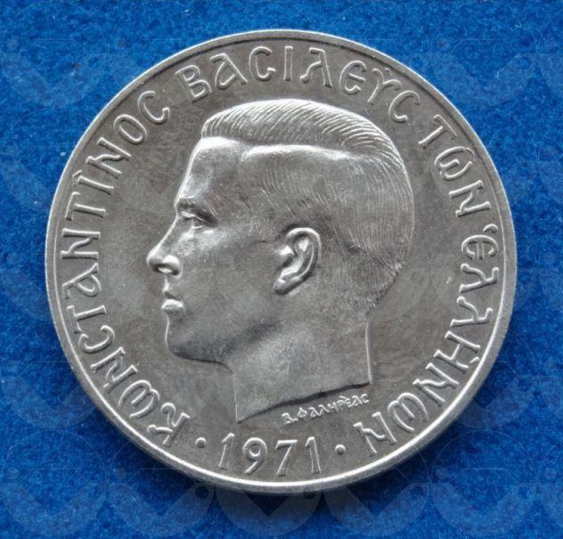 GRECIA 1971 Moneta 10 Drachma
