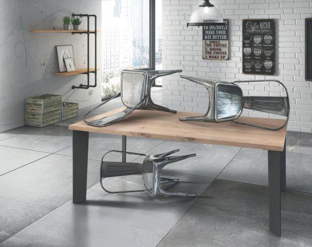 Tavolo Rovere Moderno.Tavolo Moderno In Rovere Impiallacciato Cod 001m