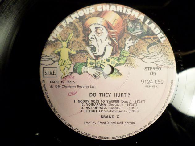 BRAND X - Do They Hurt ? - LP / 33 giri 1980 Charisma Italy - Foto 3