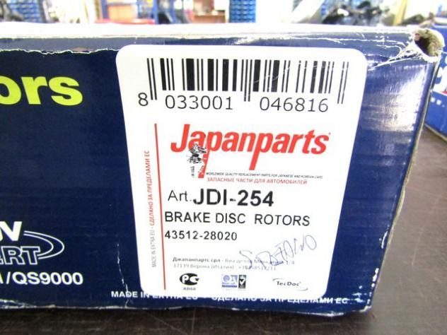 JDI-254 COPPIA DISCHI FRENO ANTERIORI JAPANPARTS TOYOTA LITEACE WAGON 1.3 B … - Foto 4