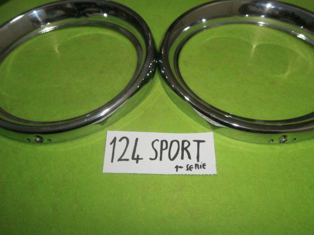 """Cerchietti anelli cornici faro Fiat 124 sport coupe' 1°s prima serie """" … - Foto 2"""