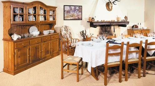 Arredamenti rustici legno prezzo fabbrica:Soggiorno 004 AFFARE