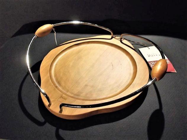 Porta piatti di plastica in legno e acciaio - Carlo Giannini spa - Nuovo