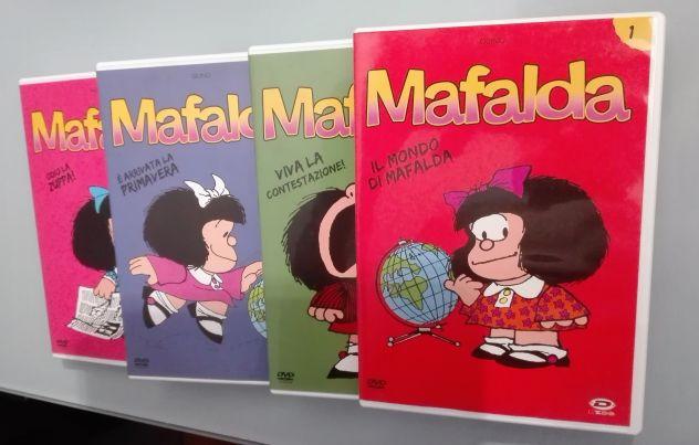 Mafalda tutti gli episodi completi in 4 dvd originali