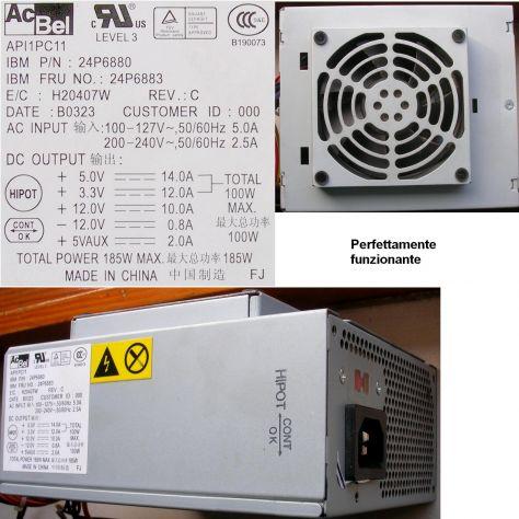 Alimentatore ACBEL API1PC11 24P6880 24P6883 IBM Originale IBM P/N: 24P - Foto 2