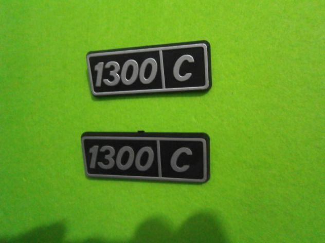 Scitte loghi targhette fiancate posteriori Fiat 128 1300 confort  NUOVE - Foto 2