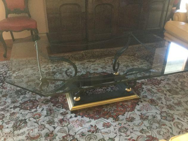 Offro Tavolo centro sala in ferro battuto/ vetro
