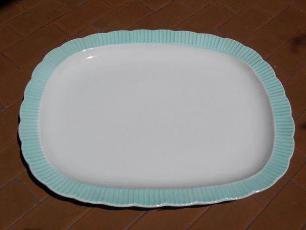 Antico piatto ceramica Galvani, antico piatto da portata, centrotavola
